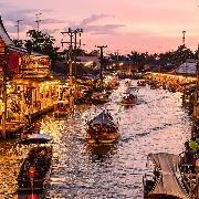 曼谷安帕瓦+丹嫩莎朵水上市場+美功鐵道坐火車一日遊