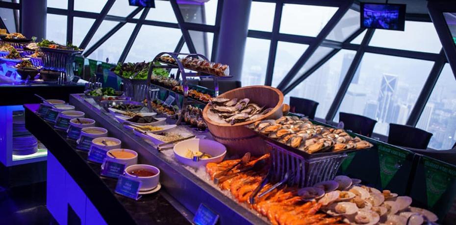 2019吉隆坡塔旋轉餐廳-自助晚餐