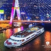 曼谷白芙蓉號豪華海鮮自助晚餐+夜遊湄南河(White Orchid)