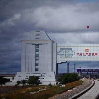 滿洲裏國門景區